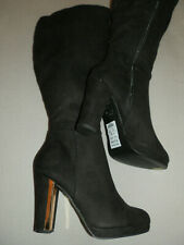 Women's Knee High Boots - New Look - Black Suede - Size 6 - BNWT