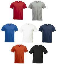 maglietta unisex t-shirt clique maglia aderente scollo a V jersey 100% cotone