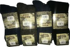 3 Pairs Men's Wool Blend Socks Winter Warm Thick Soft Pure Breathable Sock 6-11