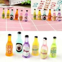 1:12 Doll House Mini Fruit Soda Bottle For Fairy Garden Accessory
