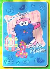"""SESAME STREET Educational TV SHOW Cookie Monster TWIN SIZE BLANKET 60"""" x 87"""" New"""
