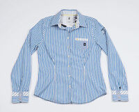GAASTRA Womens Blue striped Casual shirt, long sleeved Size Large
