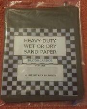 (40) 1/4 SHEETS SANDPAPER SUPER FINE 3000 GRIT WET DRY SAND PAPER