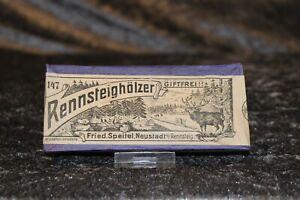 Antike Schachtel Streichhölzer / Rennsteighölzer / ca.1900 Rarität / Sammler
