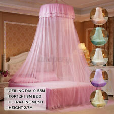 Round Mosquito Net Curtain Canopy Princess Single Entry For Double King Size Bed