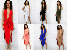 Bodycon Dresses for Women with Belt Midi