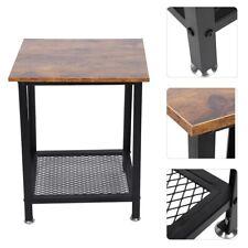 Table de appoint en fer style simple Table d'appoint avec étagère de rangement
