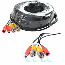 50M 165ft Security Camera System Cable CCTV Video Power Wire DC BNC RCA Cord DVR