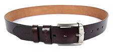Une ceinture pour homme en cuir de couleur café Vintage Boucle de style cow-boy