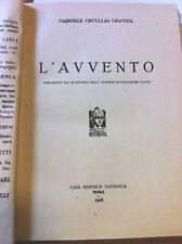 1928 GABRIELE CRUYLLAS GRAVINA - L'AVVENTO - 1 EDIZIONE