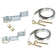Eagle Chimney Mount Antenna Mast 10 Ft Z Type Straps Brackets Up to 1 1/2 Inch