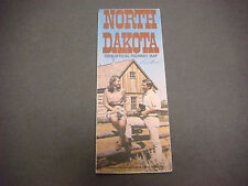 1969 North Dakota Official Highway Map Old West Trail Lewis - Clark Trail S2481