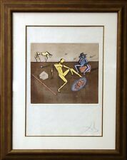 """Salvador Dali """"The Mirror Of Chivalry"""" Hand Signed by Dali on Japon paper L@@K!"""
