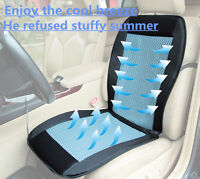 Cooling car seat cushion cover 12V air ventilated fan air conditioned cooler pad