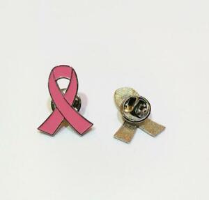1X Breast Cancer Awareness Brooch Pin Pink Ribbon