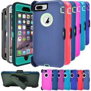 For Apple iPhone 7Plus & 8Plus Heavy Duty Shockproof Case with Belt Holster Clip