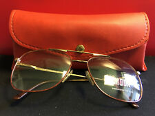 5d3e791735d3 Vtg Viva Moda Gold Tone Frames with Red Brown on Front with Red Case