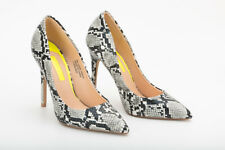 PRIMARK Snake Skin High Heels Stiletto Court Shoes Office Party Pumps Size UK 3