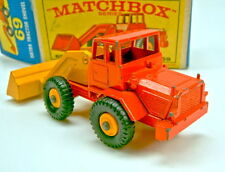 Matchbox 69B Hatra Tractor Shovel 2farbig orange & gelb extrem selten