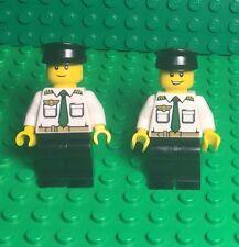 Lego X2 New City Airplane Pilot Boy Mini Figures