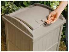 Trash Resin Wicker Hideaway Patio Outdoor Garbage Can Garden Bin Deck Can NEW