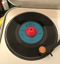 """Pair Of Brand New Plastic Domed 45 RPM Adapter 7"""" Inch Vinyl Dinked Records X2"""