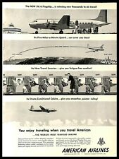 1948 American Airlines DC-6 Flagship Vintage PRINT AD Air Travel Illustration
