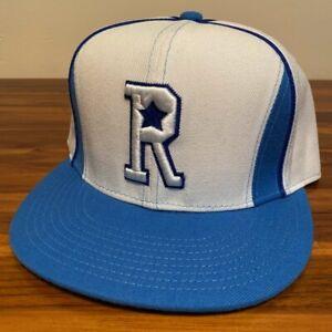 Rucker Park Hat Baseball Cap Fitted 7 1/2 White Blue Vintage New York Basketball
