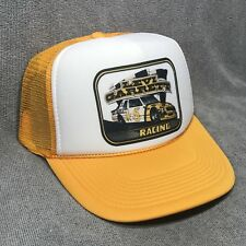 Levi Garrett Racing 5 Star Chew Hat Vintage 80's NASCAR Snapback Cap! Yellow