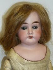 "18"" Antique Bisque Doll Columbia by Armand Marseille, Human Hair Wig"