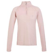 NWT Golfino Ladies sz 8 Powder Pink Cotton Cashmere 1/4 Zip pullover 1310324 414