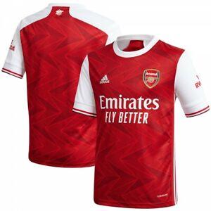 Adidas Arsenal Gunners Junior Boys Home  Football Shirt  2020 / 2021 Red / White