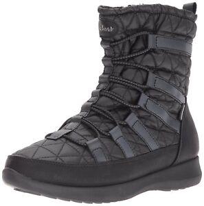 Skechers Women's Boulder Snow Boot Black,