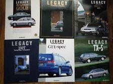 6 x SUBARU LEGACY Brochure 1995 JDM GT Tubo B Spec 250T Brighton BD BG スバル レガシー
