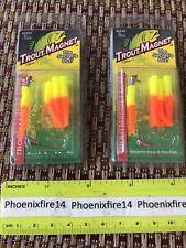 2 New Trout Magnet 1/64 oz Char/Orange Lures