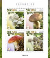 Guinea-Bissau Mushrooms Stamps 2020 MNH Fungi Fly Agaric Mushroom Nature 4v M/S