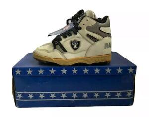 vintage raiders eastport by starter sneakers shoes big kids size 4 deadstock NIB