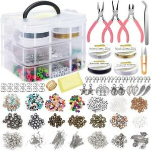 1171pcs DIY Beads Material Kits Making Earrings Necklace Jewelry Tool Decoration