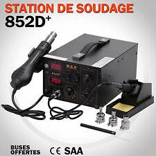 Station de Soudage Soudure Dessoudage 2en1 Réparation Affichage Numérique 852D+
