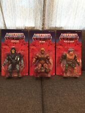 Mattel MOTU Giant 12 Inch He-Man, Skeletor, Man-At-Arms Collector Figure Set