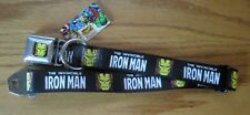 Avengers Iron Man Marvel Comics Seat Belt Dog Collar Buckle Down NEW LETTER 0176