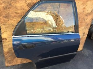 92 93 94 95 Civic DX Sedan Right Passenger Side Rear Door Assy Blue Used OEM