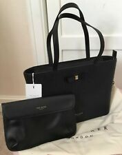Ted Baker Large Bow Leather Shoulder Shopper Bag INCL MATCHING CLUTCH BNWTS