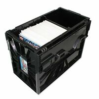 BCW SHORT COMIC BOOK BIN - Black Plastic Storage Box w One Partition 1-Box ...