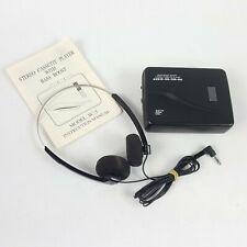 Stereo Cassette Player with Bass Boost SC-5 Belt Clip Headphones Manual Walkman