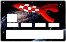 La fusée de Tintin d'après Hergé - Stickers adhésif pour Carte Bancaire NEUF