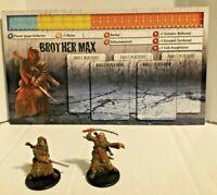 Zombicide: Brother Max w/card CMoN male Hero Survivor & Zombivor