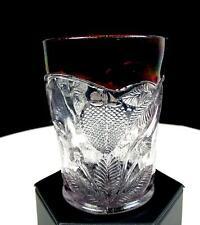 "EAPG CAMBRIDGE GLASS INVERTED STRAWBERRIES RUBY FLASH 3 3/4"" TUMBLER 1908"