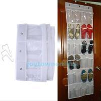 24 Pocket Over Door Wall Hanging Bag Shoe Rack Hanger Storage Tidy Organizer New