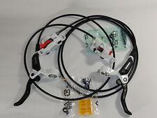 Scheibenbremsen Set Shimano BR-M 395 / 396 Weiß VR + HR